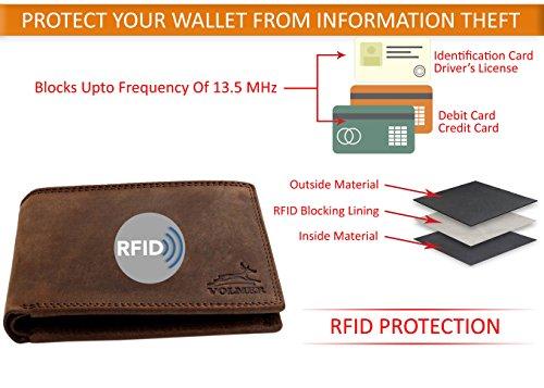 ede4509f04e69 Fa.Volmer ® Schlanke Büffelleder Geldbörse Usedlook TÜV geprüfter RFID- Schutz  Easycomfort ...