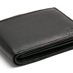83f555263790f Volmer ® Schwarze Herren Ledergeldbörse aus echtem Leder Querformat  SQ90