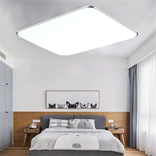 MCTECH 48W LED Deckenleuchte Ultraslim Modern Deckenlampe Flur Wohnzimmer  Lampe Schlafzimmer Küche Energie Sparen Licht Wandleuchte Farbe ...