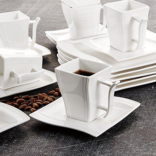 malacasa serie flora 30 tlg cremewei porzellan geschirrset kombiservice tafelservice im. Black Bedroom Furniture Sets. Home Design Ideas