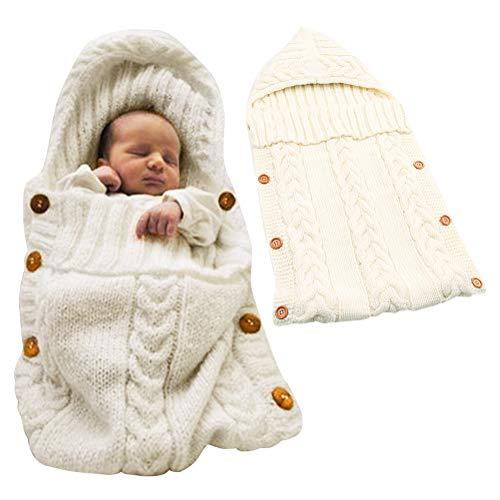 Minetom Schlummersack Unisex Neugeborenes Baby Gestrickt Wickeln Swaddle Decke Babydecken Pucktücher Schlafsack Für 0 12 Monat Baby