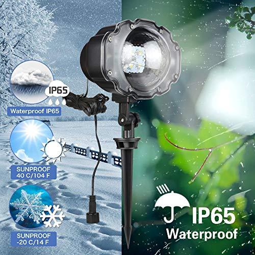 Startseite Rotierenden Led Schnee Projektor Mit Fernbedienung Ip65