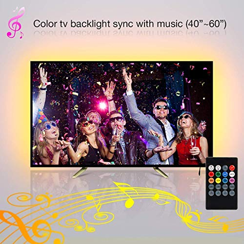 tv led hintergrundbeleuchtung 2m smd 5050 usb musik. Black Bedroom Furniture Sets. Home Design Ideas